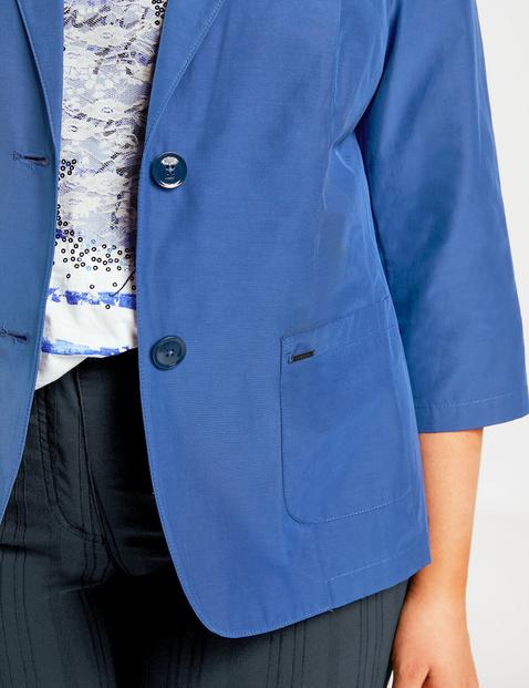 3/4-length sleeve blazer