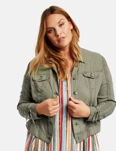 Sporty, soft lyocell jacket