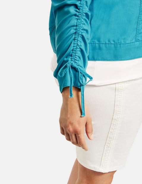 Sportive Jacke aus softem Lyocell