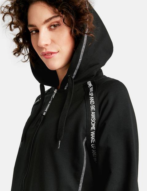 Sweatshirt jacket with a hood