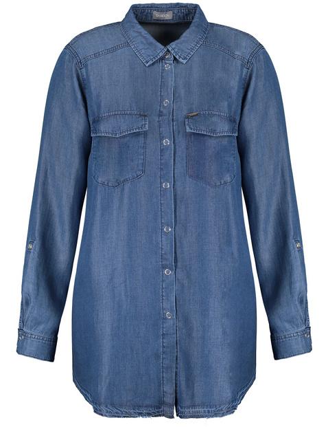 Długa bluzka dżinsowa