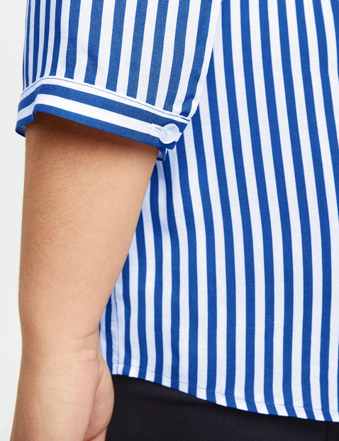 3/4 Arm Bluse mit Streifen-Dessin