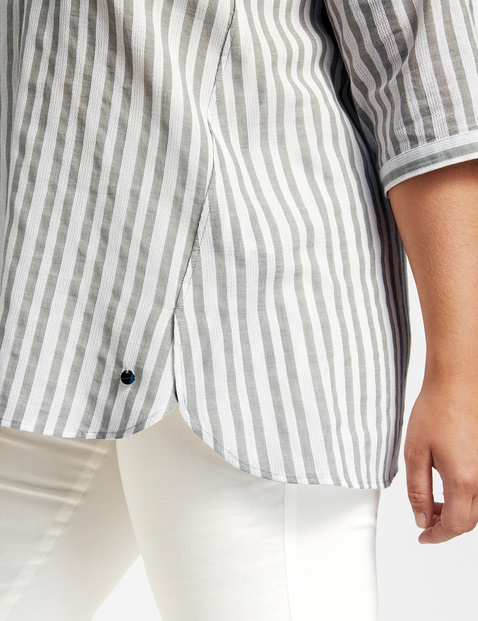 Striped cotton tunic