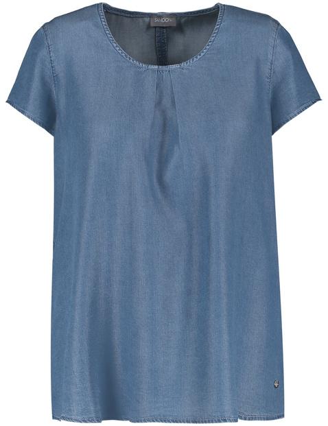 Blusenshirt in Jeans-Optik