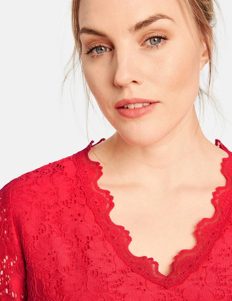 Elastyczna koronkowa bluzka