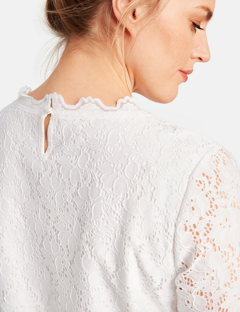 Elasticated lace top