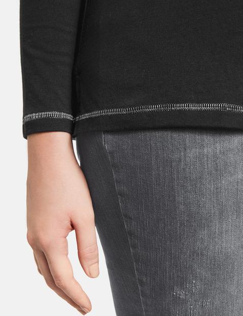 Shirt met letterprint GOTS, organic cotton