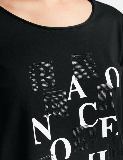 Shirt met 3/4-mouwen en print op de voorkant, organic cotton