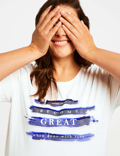 Organic cotton T-shirt with a statement print