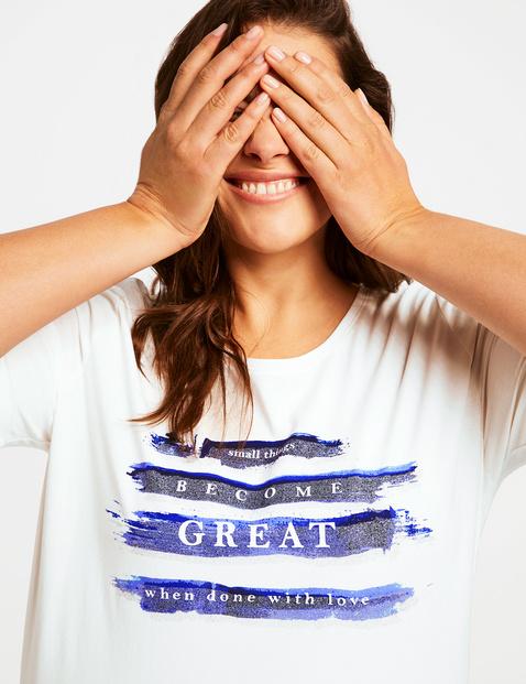 T-shirt z nadrukiem, bawełna organiczna