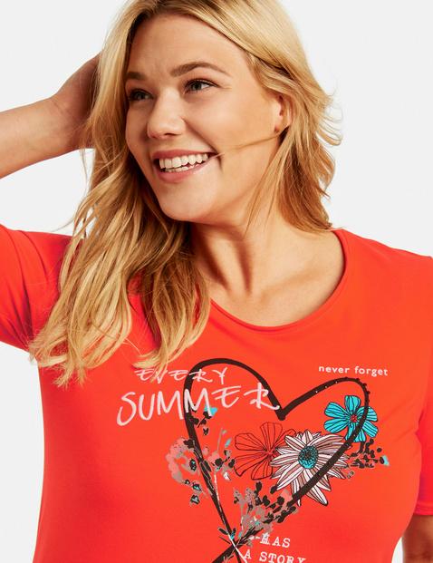 T-shirt z nadrukiem z przodu, bawełna organiczna