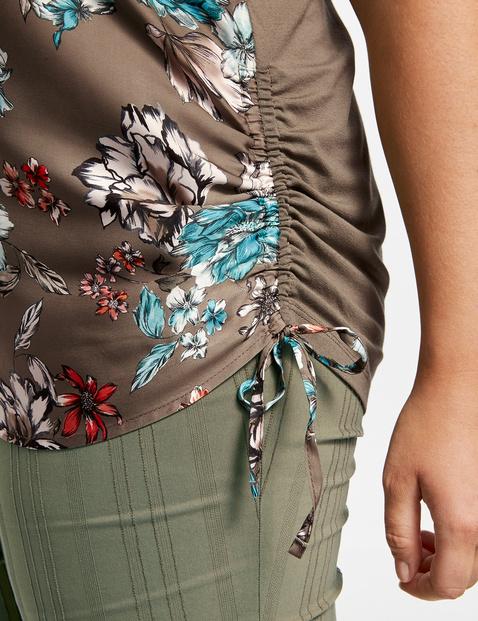 Blusenshirt mit Raff-Details