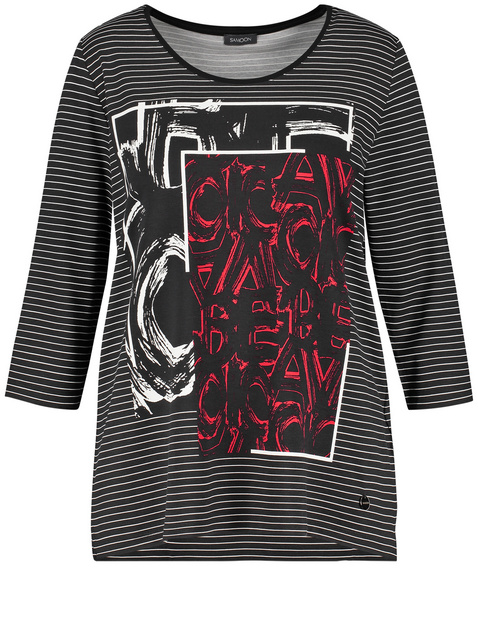 3/4 Arm Shirt mit Front-Print