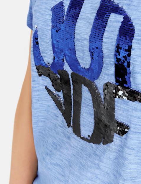 Shirt met omkeerbare pailletten