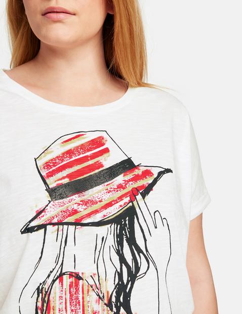 Katoenen shirt met een elastische zoom