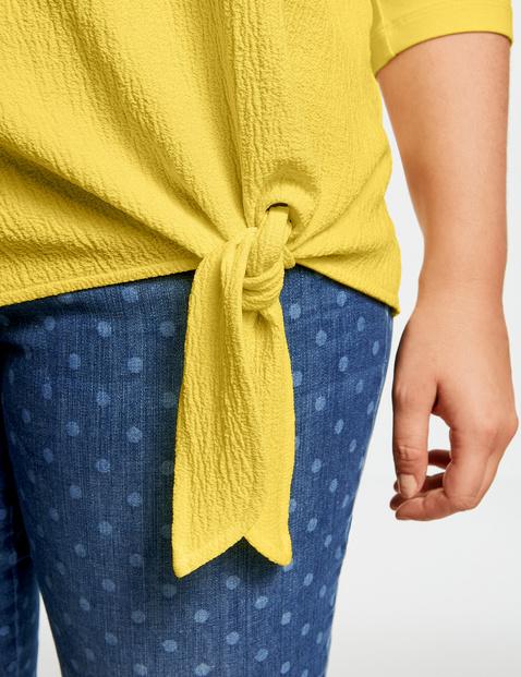 Blouseachtig shirt met geknoopt detail