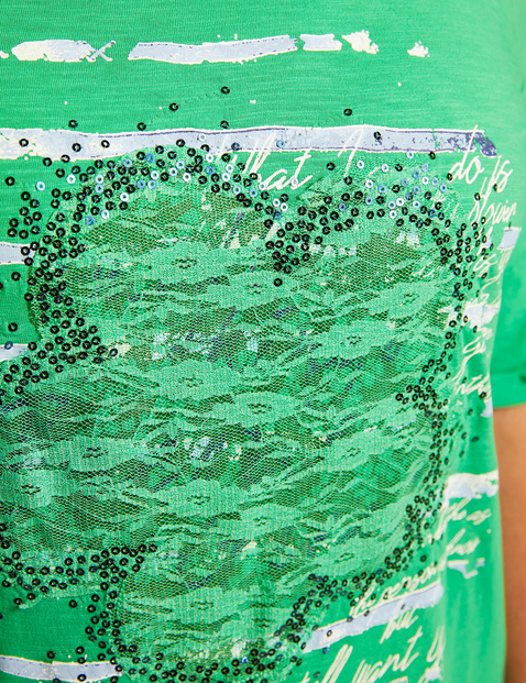 Legeres Shirt mit Front-Print organic cotton