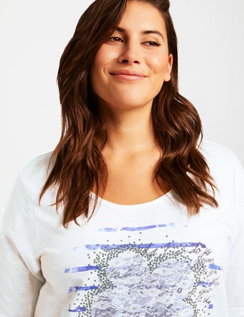 Casual shirt met print op de voorkant, organic cotton