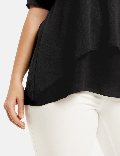Flared double-layer top