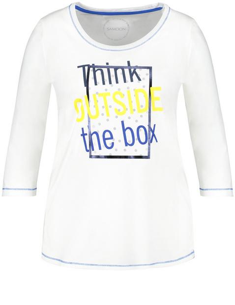 Shirt met 3/4-mouwen en statement print