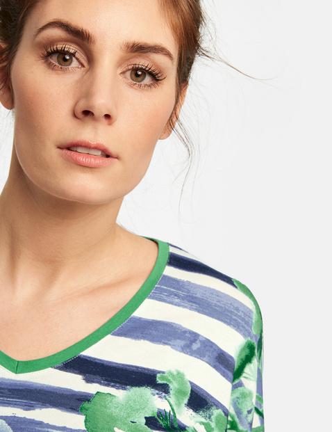 Uitlopend shirt met motiefmix