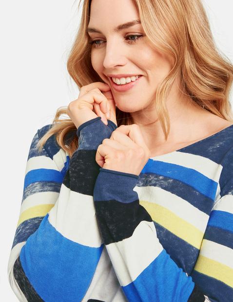 Pullover im lässigen Streifen-Design