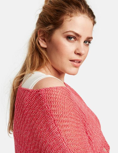 Sweter z dzianiny w prążki