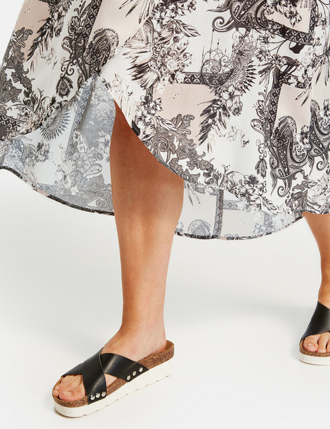 Skirt with a wrap-over effect