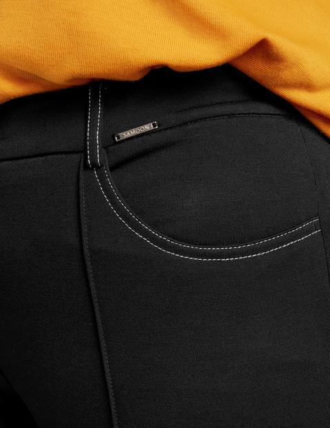 Elastyczne spodnie Lucy o dł. 7/8 z rozszerzanymi nogawkami