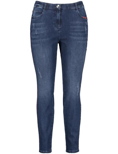 Betty Jeans mit Gallonstreifen im Snake-Design