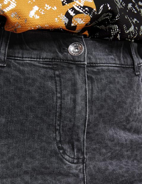 5-Pocket-Jeans mit Leo-Print