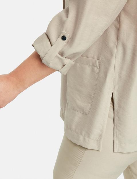 Open blazer met zijsplitten