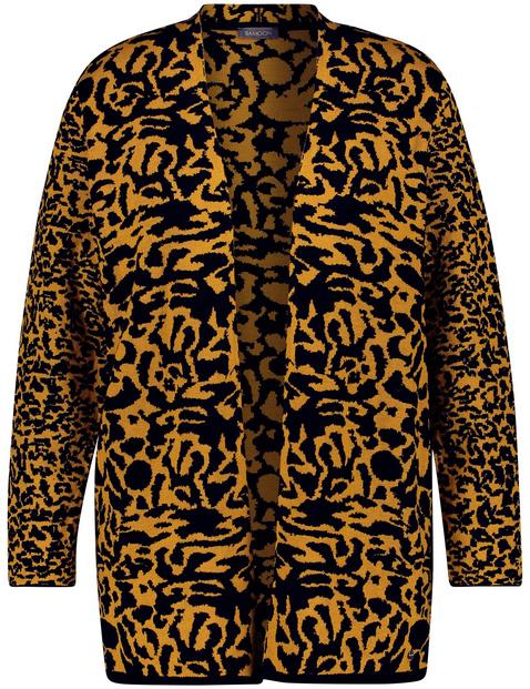 Lang vest met luipaardmotief