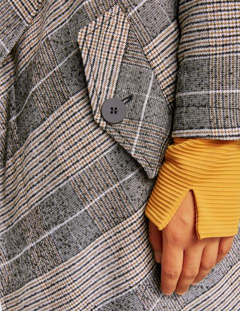 Cienki i krótki płaszcz w kratkę