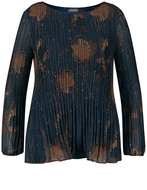 Leicht ausgestellte Plissée-Bluse