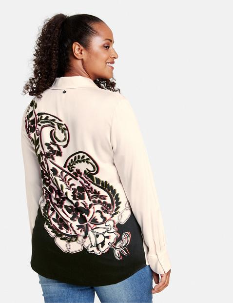 Elegante Bluse mit Rücken-Print
