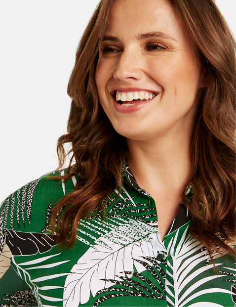 Casual blouse met print all-over
