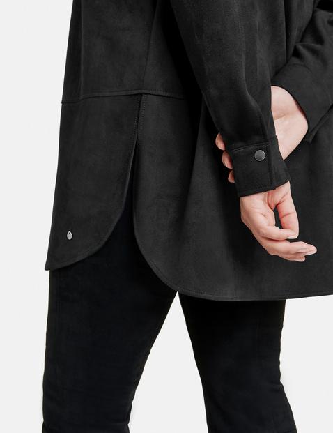 Lange blouse in suèdelook