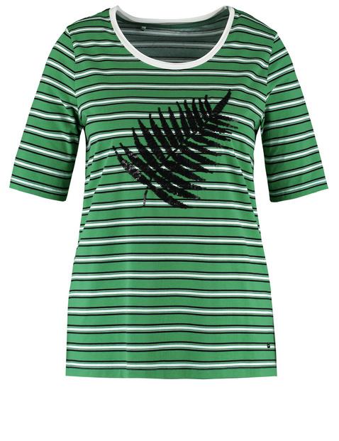 T-Shirt mit Pailletten-Dekor organic cotton