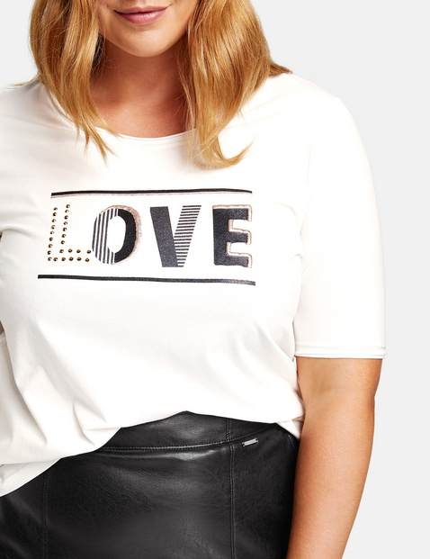 Organic cotton T-shirt with printed lettering