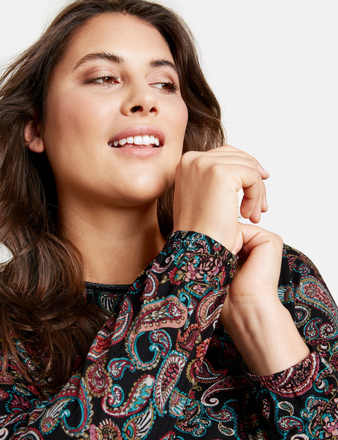 EcoVero top with a paisley print