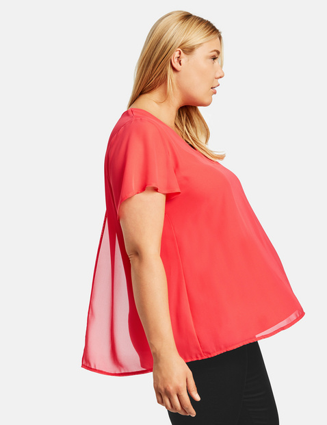 Flared blouse top