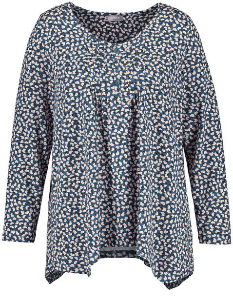 Ausgestelltes Shirt mit Zipfelsaum