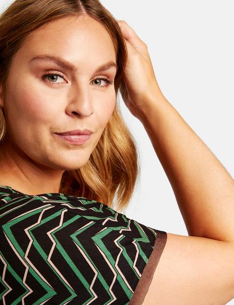 Shirt met geraffineerde V-hals EcoVero