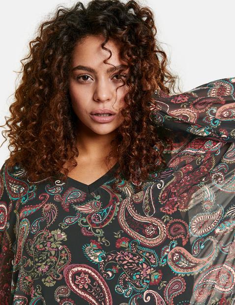 2-in-1 blouse met paisleymotief