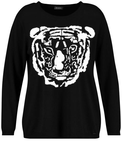Jumper with tiger motif