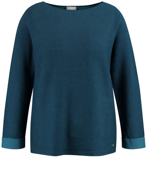 Sweter z dwustronnej dzianiny