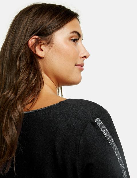 Langarmshirt mit Lurex-Details