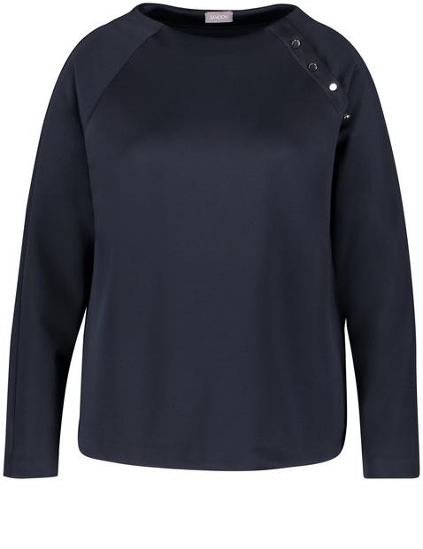 Sweatshirt mit Zierknopfleiste