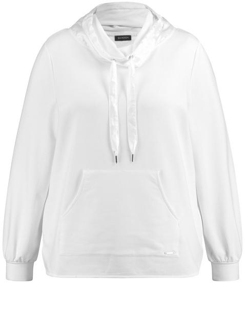 Sweatshirt mit Chiffon-Detail